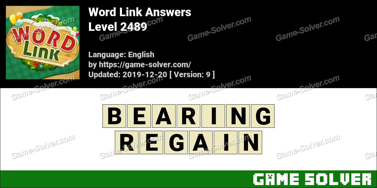 Word Link Level 2489 Answers