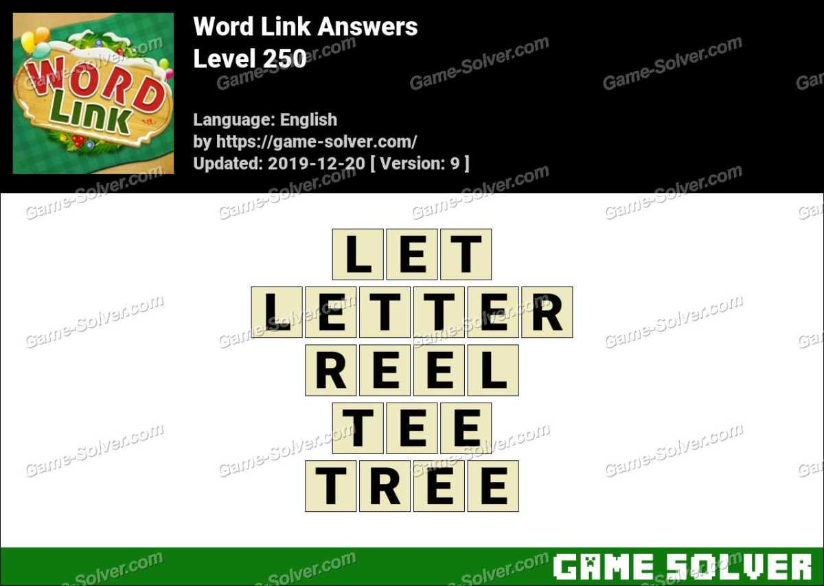 Word Link Level 250 Answers