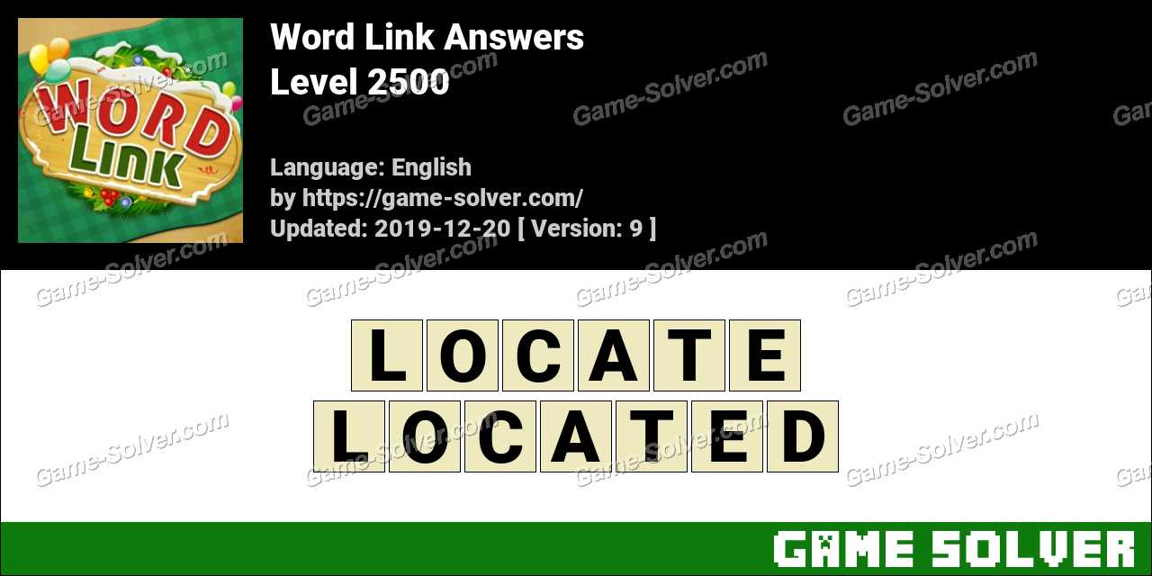 Word Link Level 2500 Answers