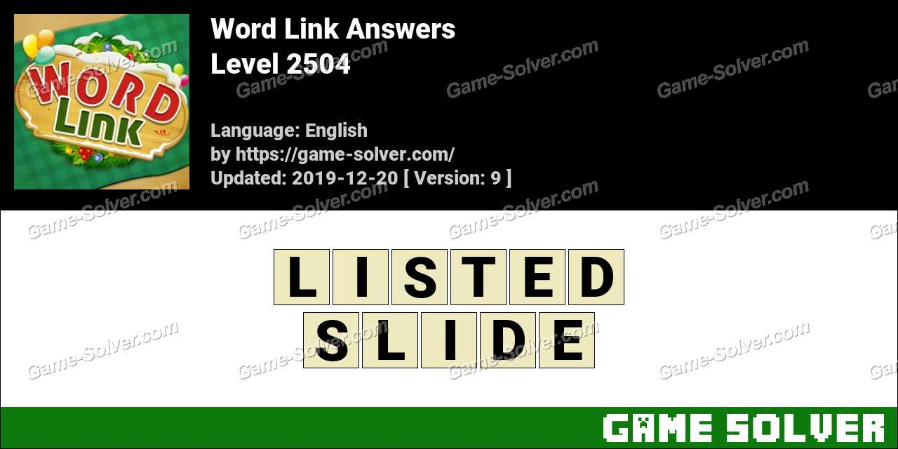 Word Link Level 2504 Answers