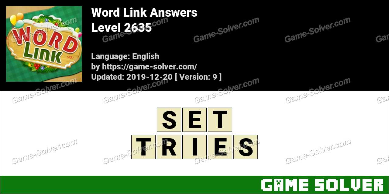 Word Link Level 2635 Answers