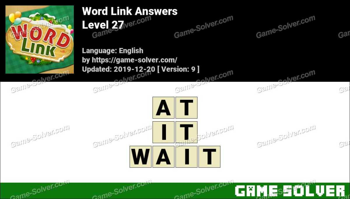 Word Link Level 27 Answers