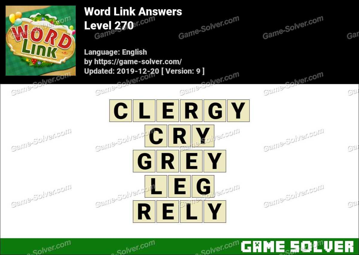 Word Link Level 270 Answers