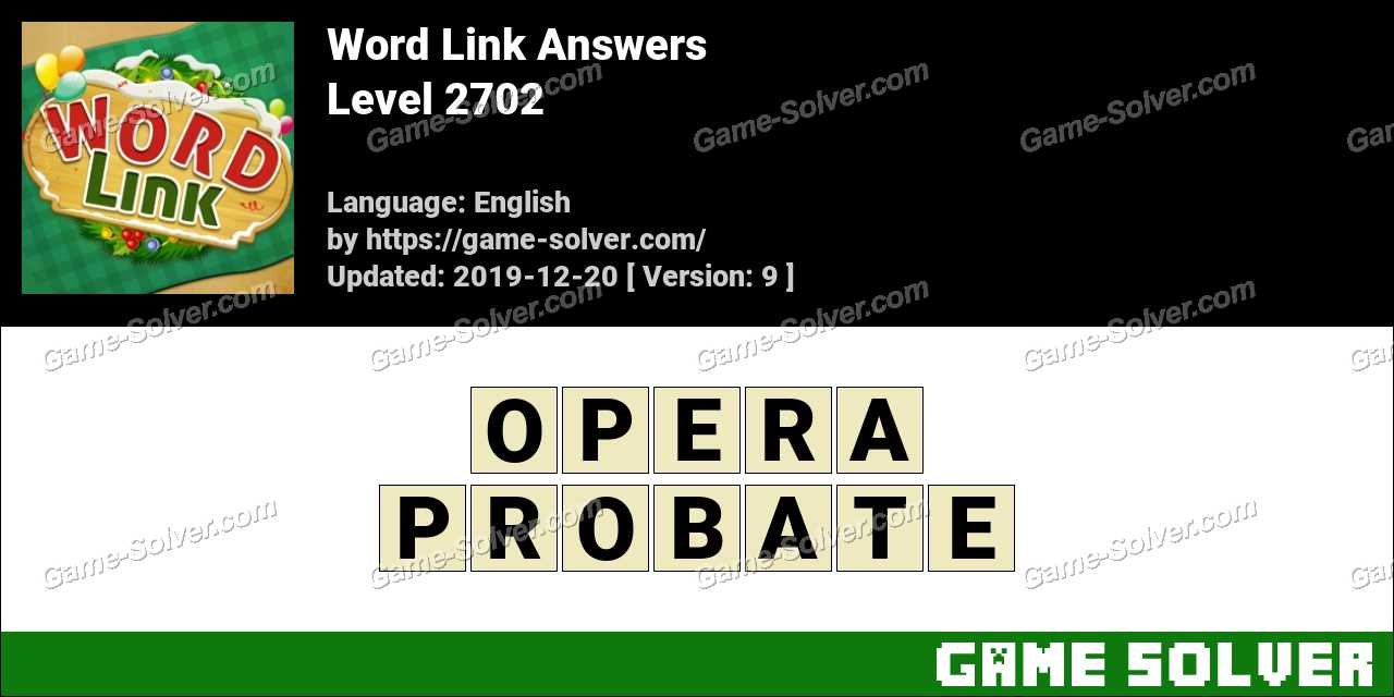 Word Link Level 2702 Answers