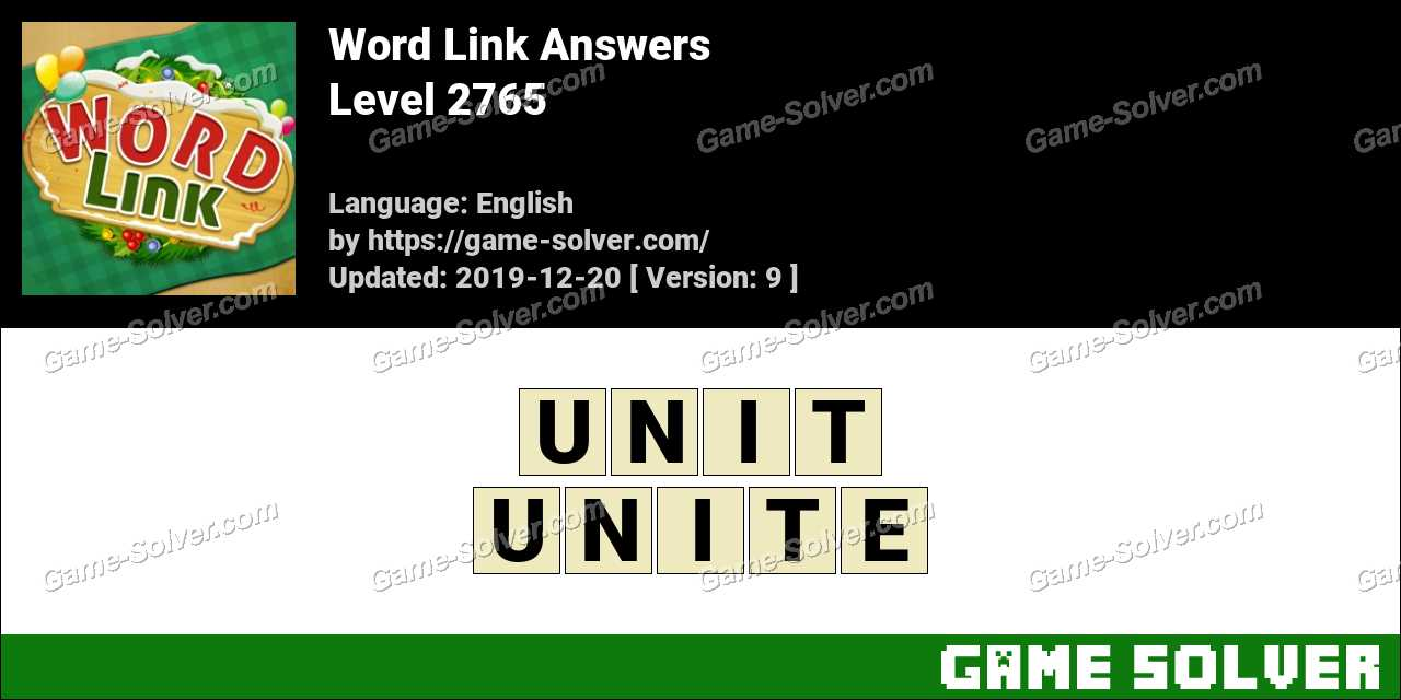 Word Link Level 2765 Answers