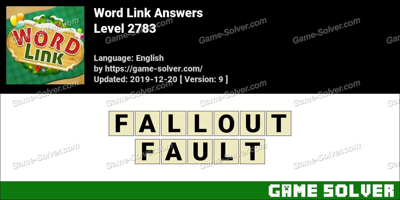 Word Link Level 2783 Answers