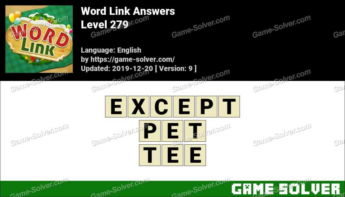 Word Link Level 279 Answers