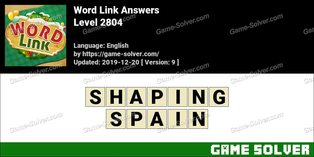 Word Link Level 2804 Answers