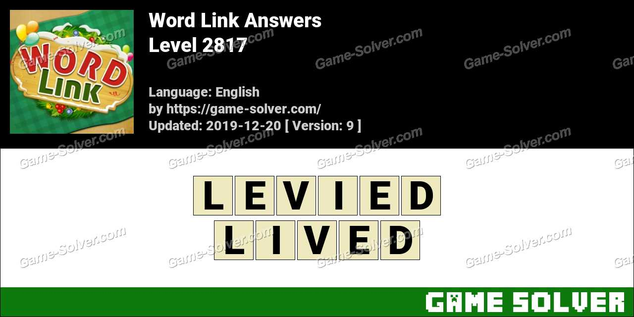 Word Link Level 2817 Answers