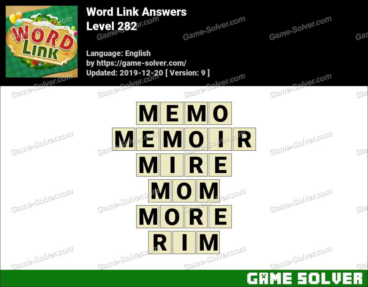 Word Link Level 282 Answers