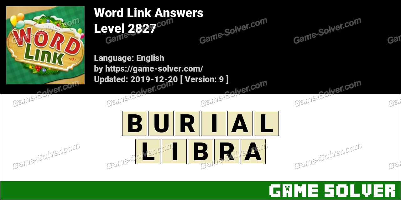 Word Link Level 2827 Answers