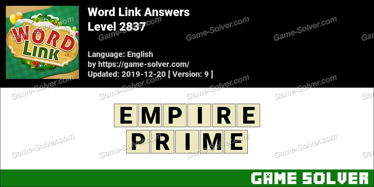 Word Link Level 2837 Answers