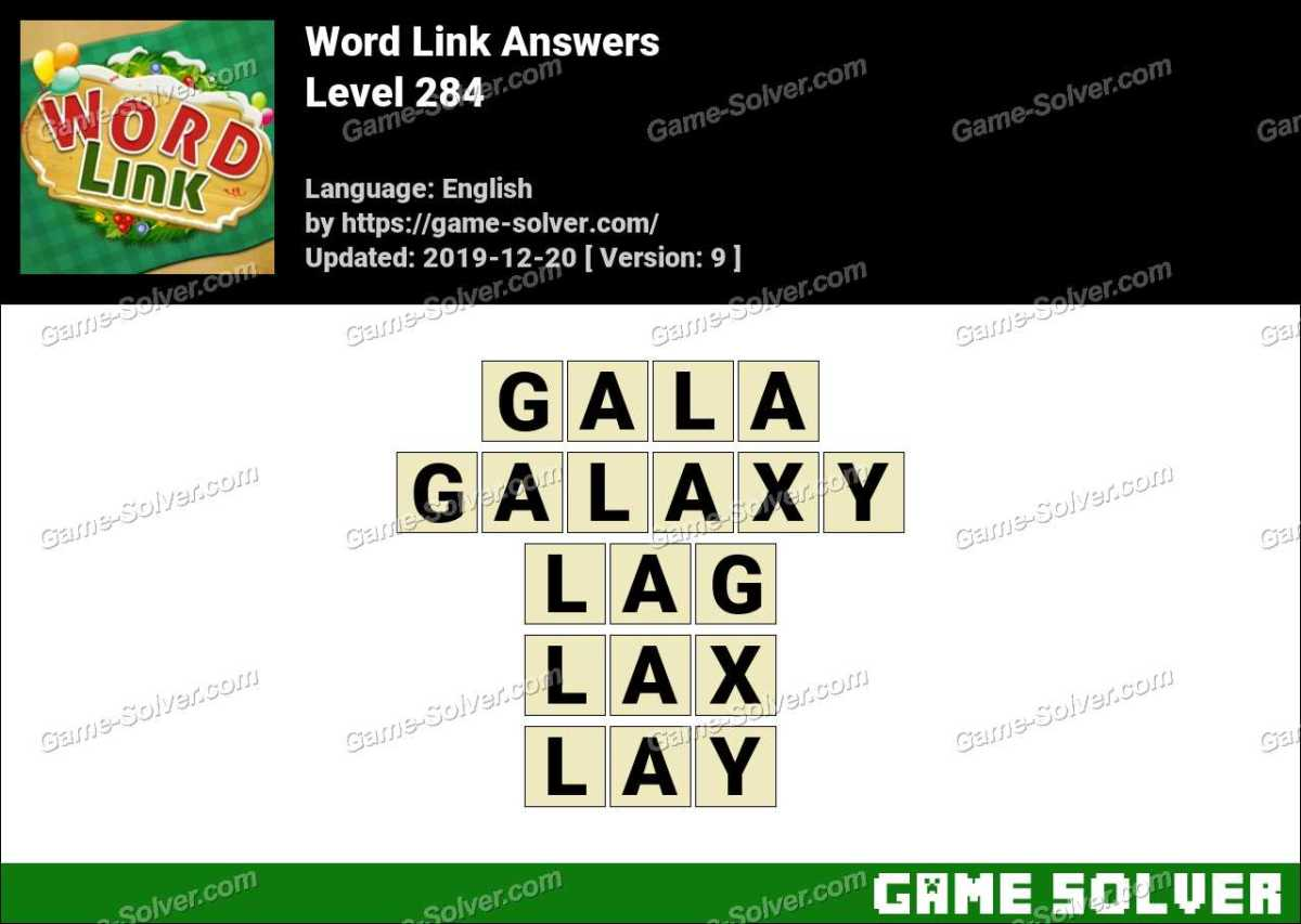 Word Link Level 284 Answers