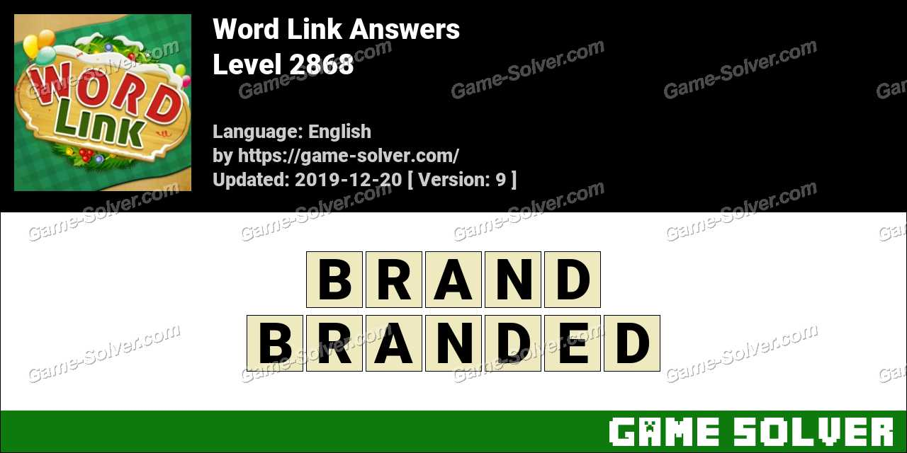Word Link Level 2868 Answers