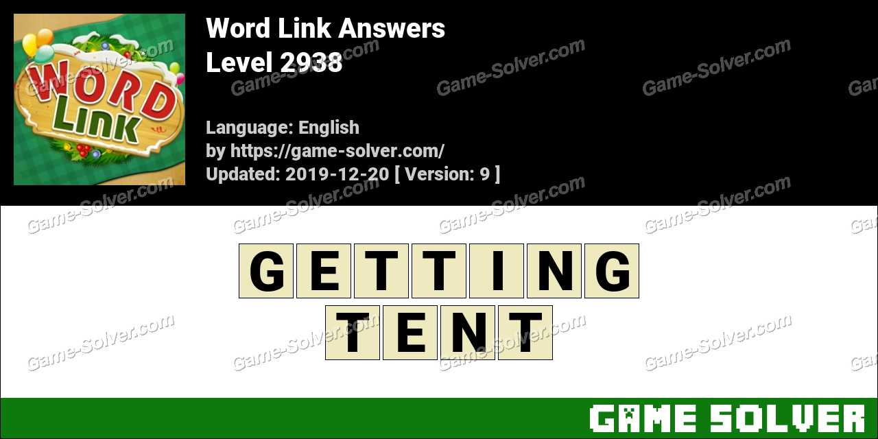 Word Link Level 2938 Answers