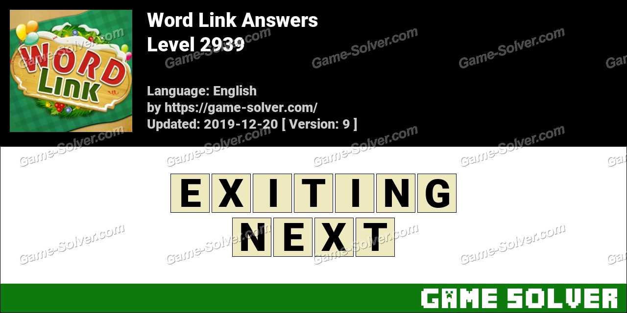 Word Link Level 2939 Answers
