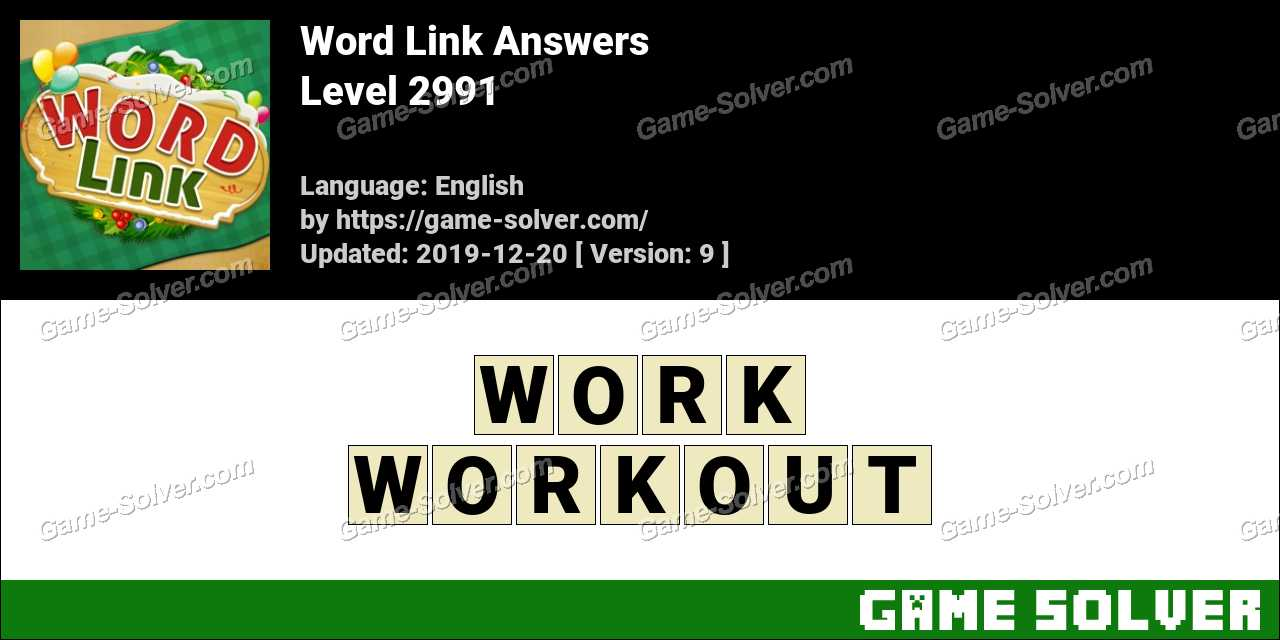 Word Link Level 2991 Answers
