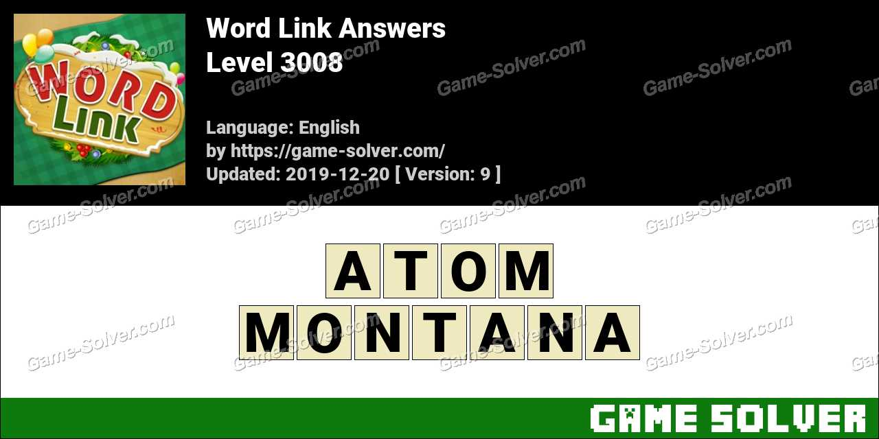 Word Link Level 3008 Answers