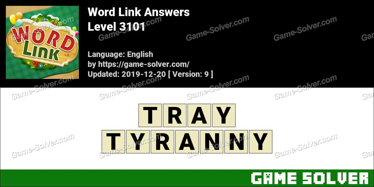 Word Link Level 3101 Answers