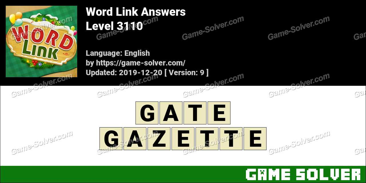 Word Link Level 3110 Answers