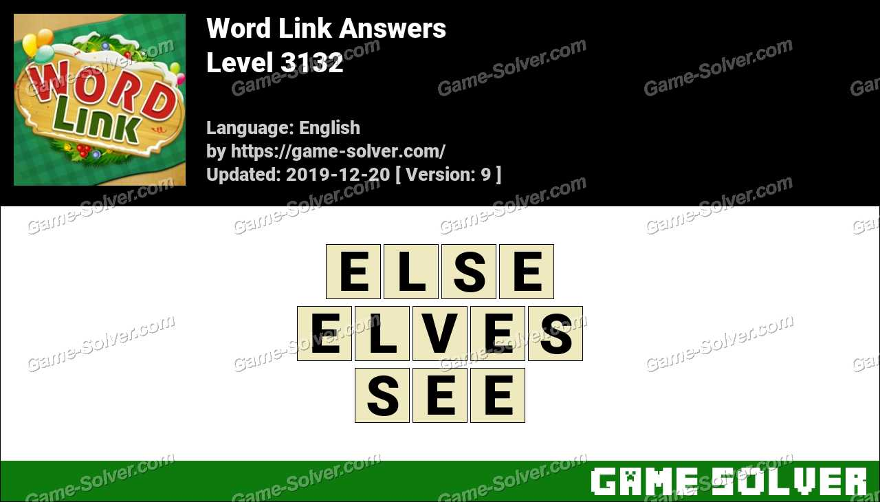 Word Link Level 3132 Answers