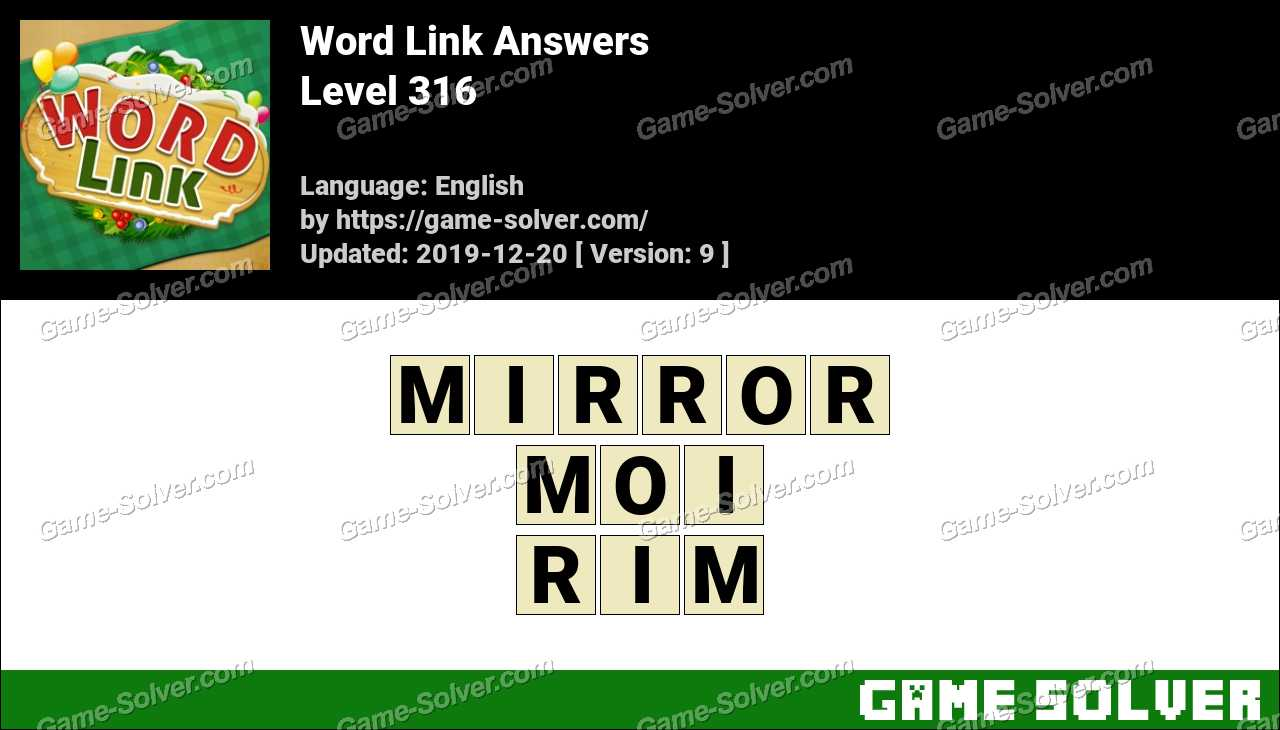 Word Link Level 316 Answers