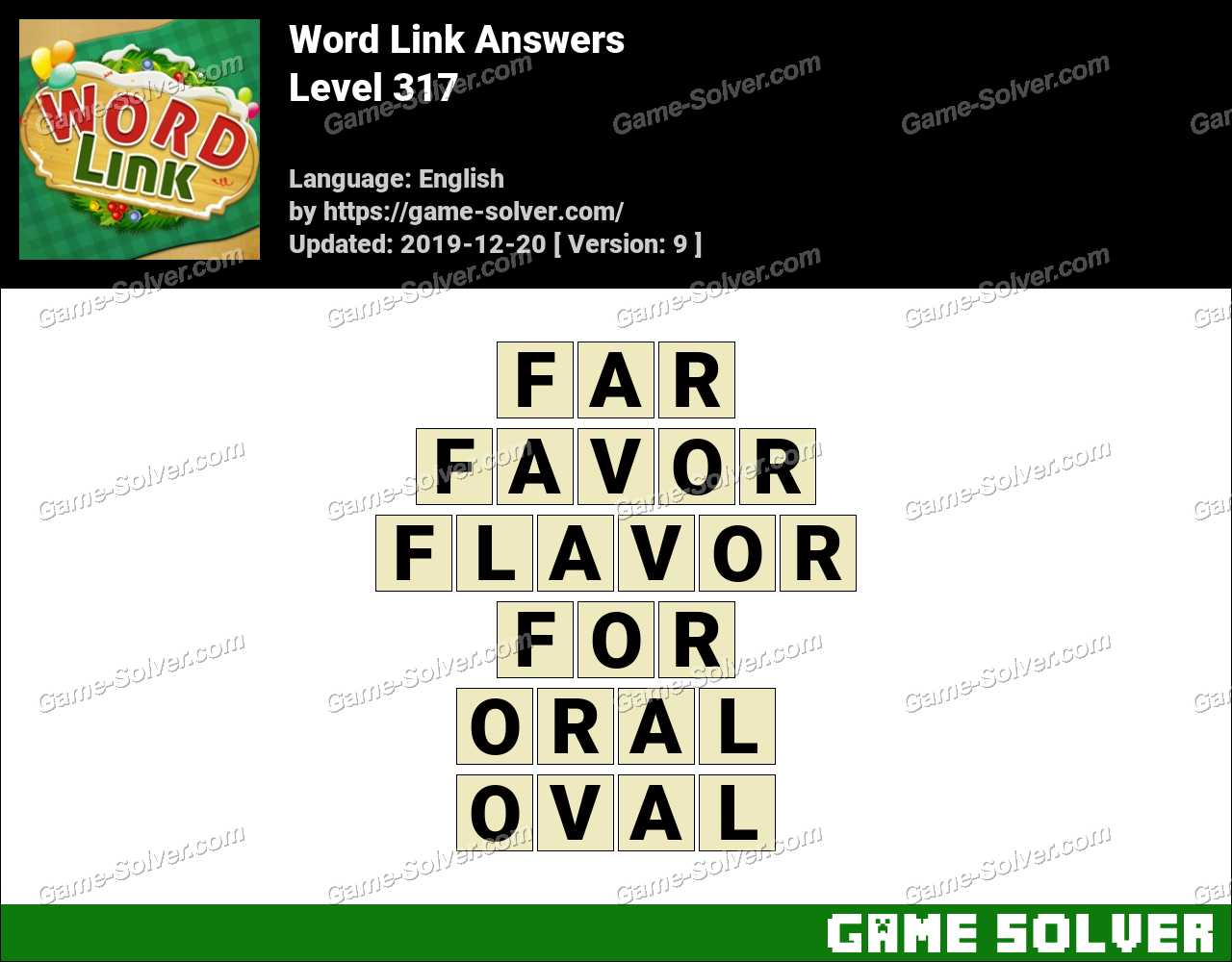 Word Link Level 317 Answers
