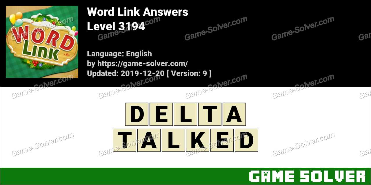 Word Link Level 3194 Answers