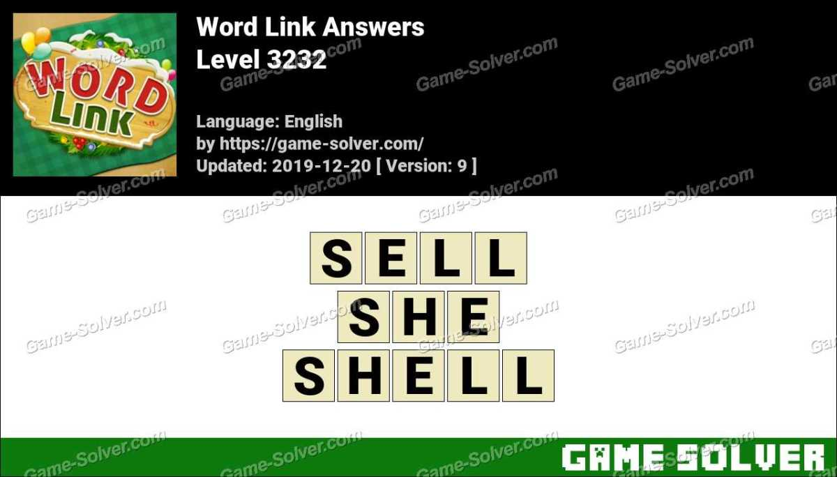 Word Link Level 3232 Answers