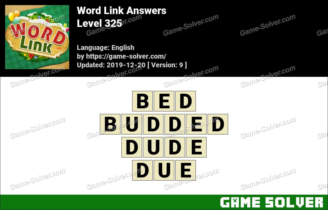 Word Link Level 325 Answers