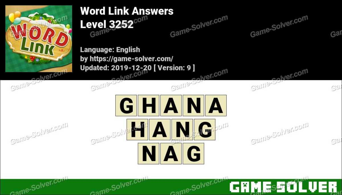 Word Link Level 3252 Answers