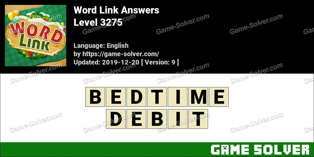 Word Link Level 3275 Answers