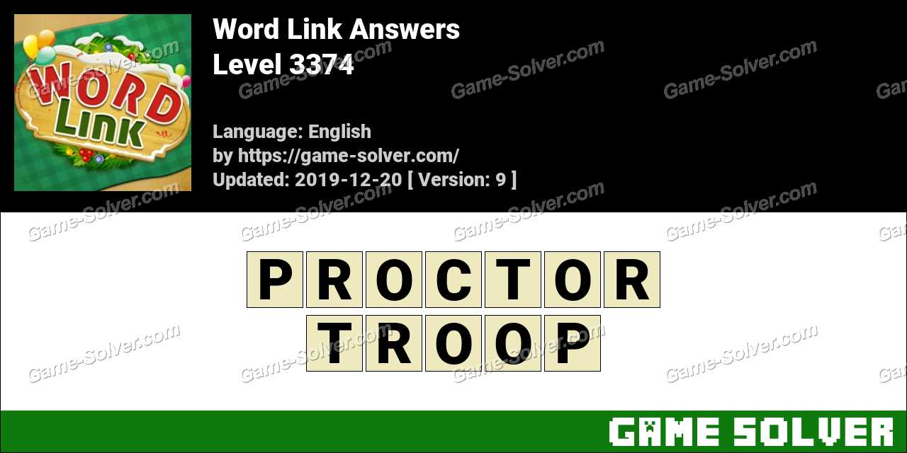 Word Link Level 3374 Answers