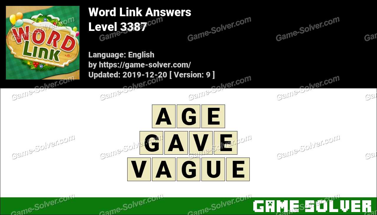 Word Link Level 3387 Answers
