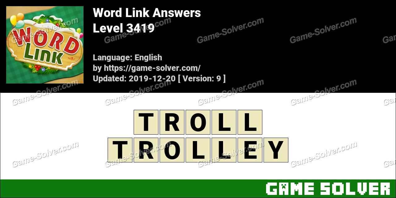 Word Link Level 3419 Answers