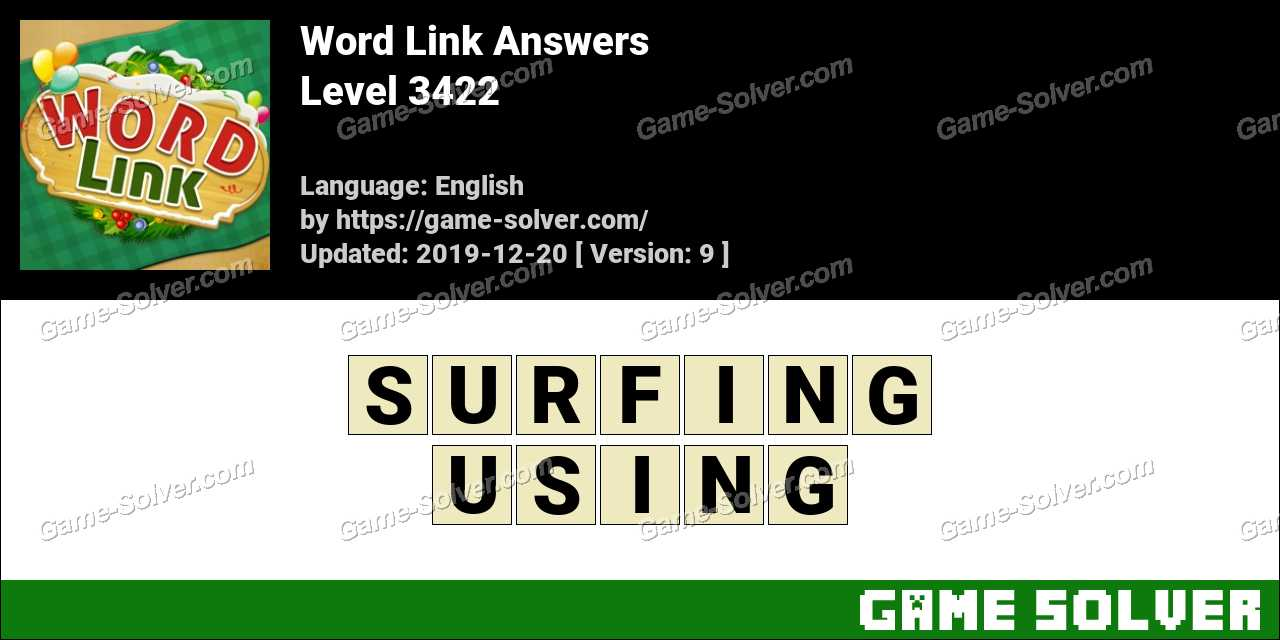 Word Link Level 3422 Answers