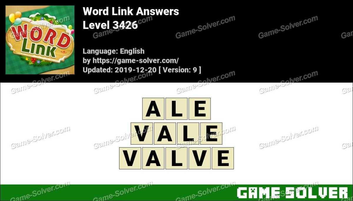 Word Link Level 3426 Answers