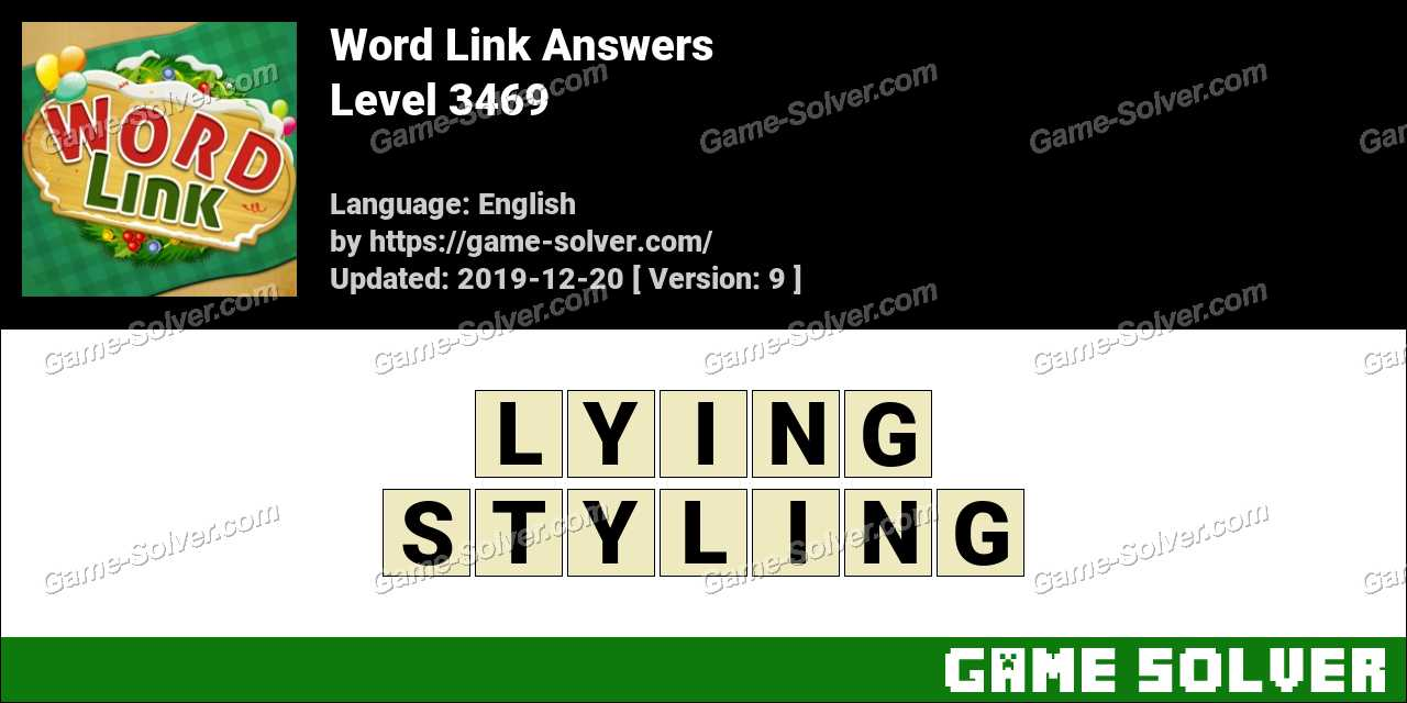 Word Link Level 3469 Answers