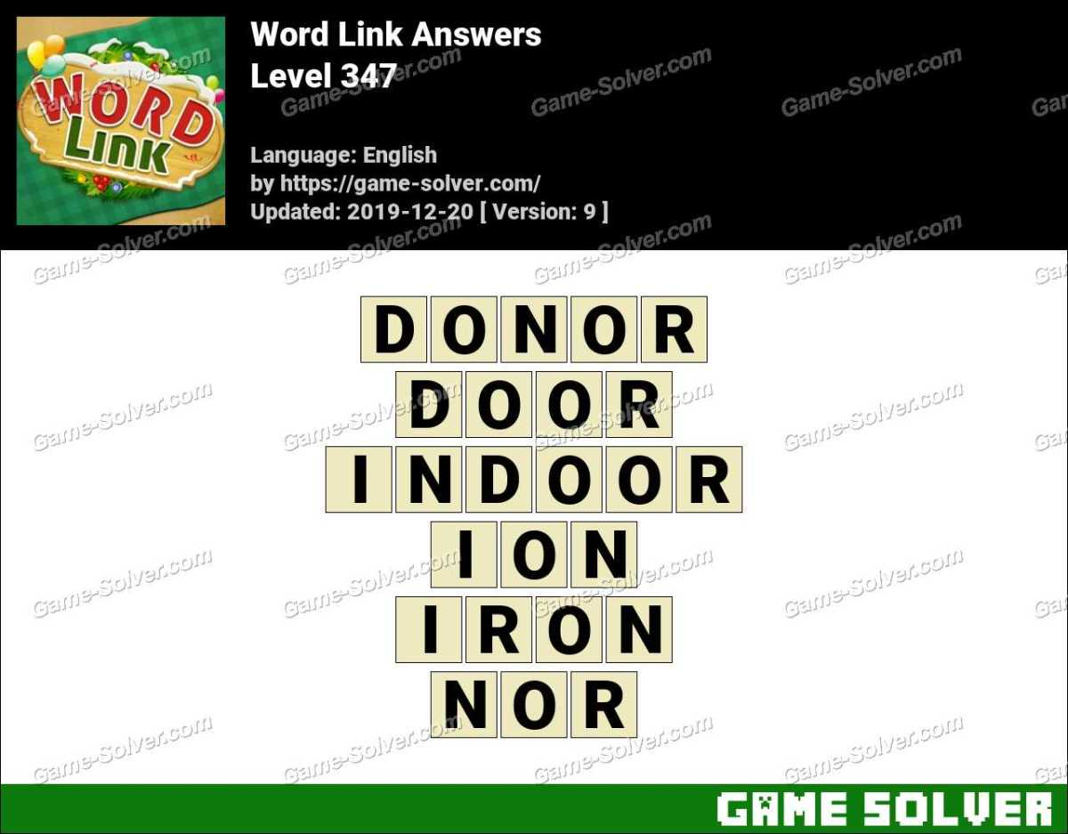 Word Link Level 347 Answers