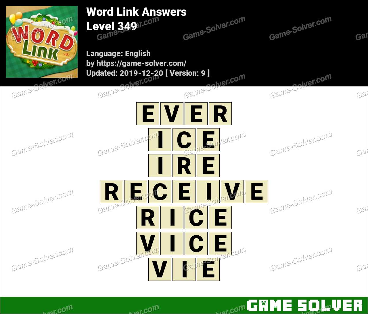 Word Link Level 349 Answers