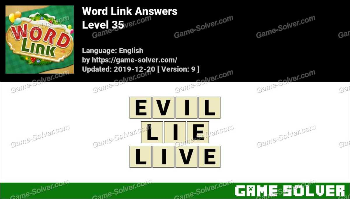 Word Link Level 35 Answers