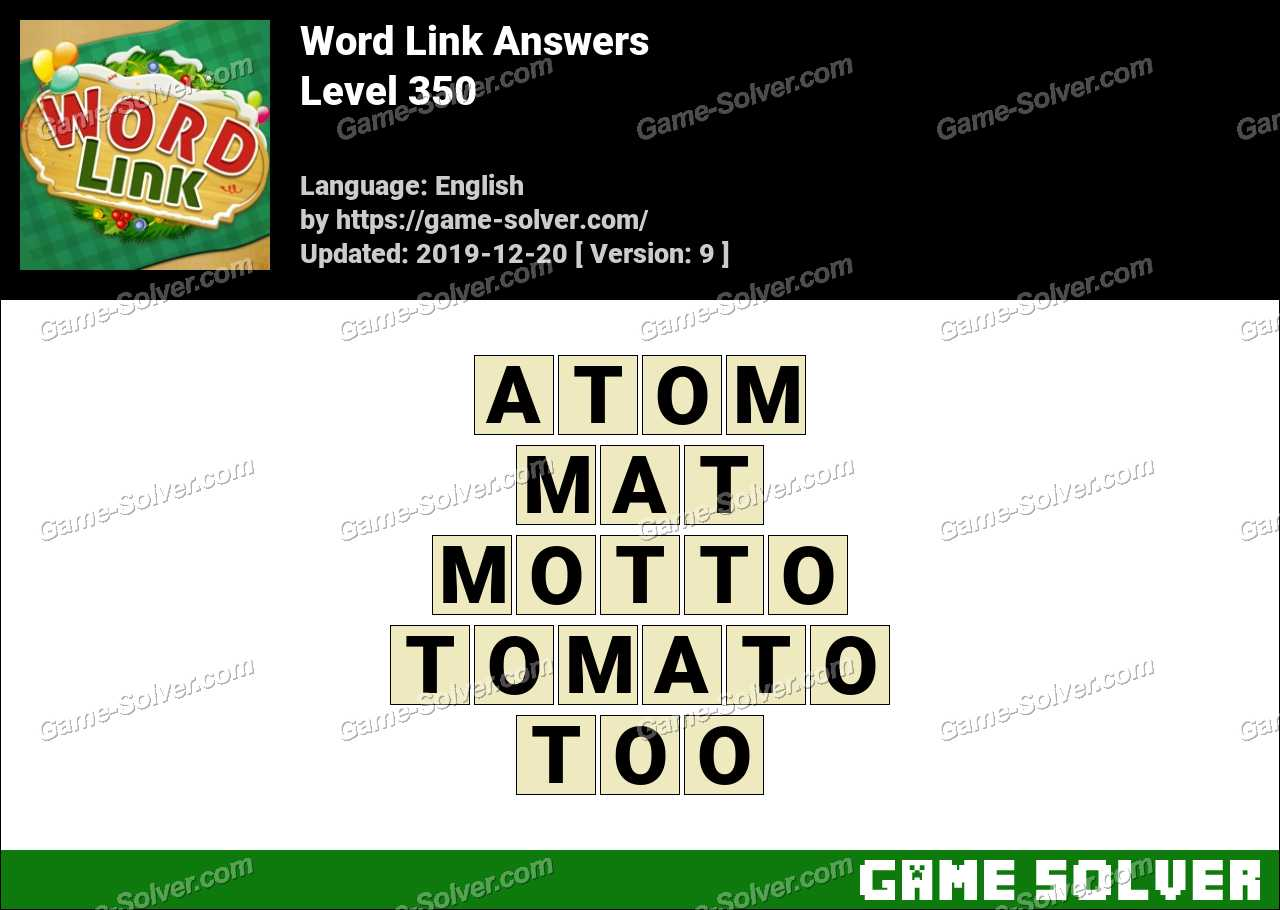Word Link Level 350 Answers