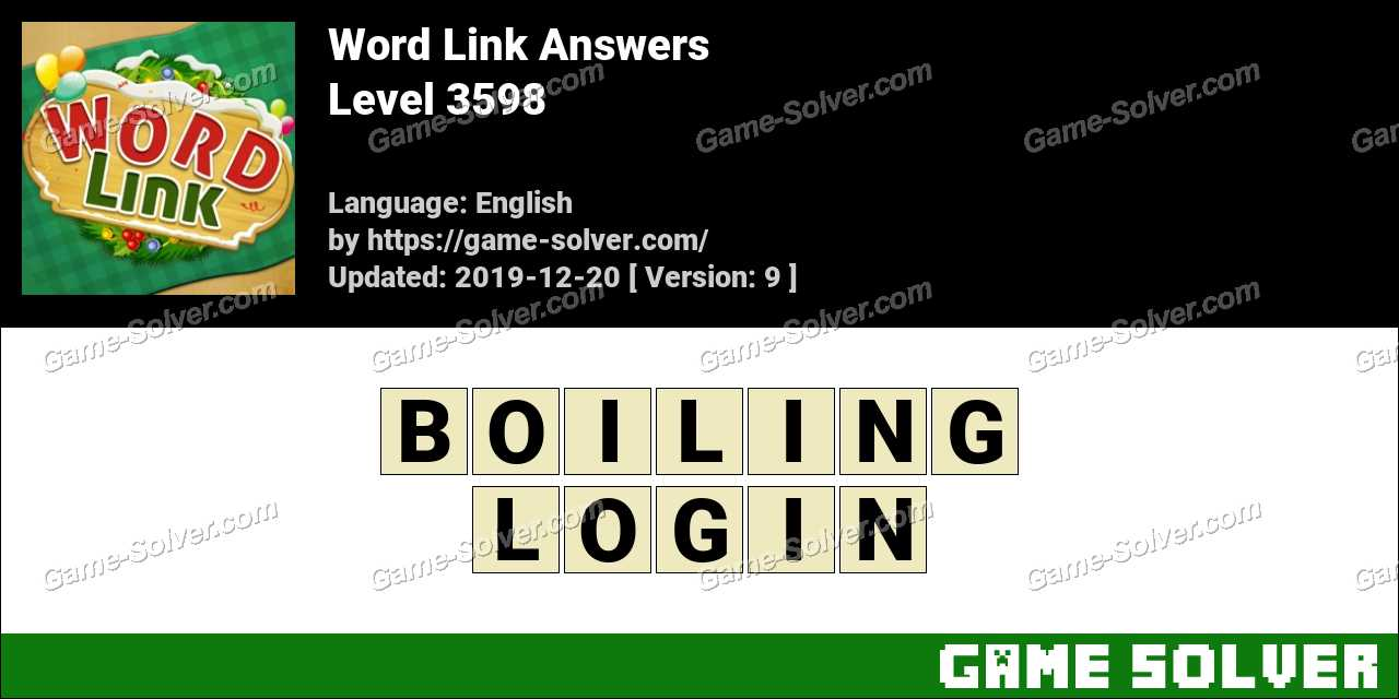 Word Link Level 3598 Answers