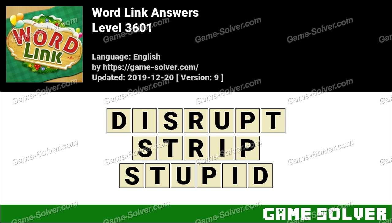 Word Link Level 3601 Answers