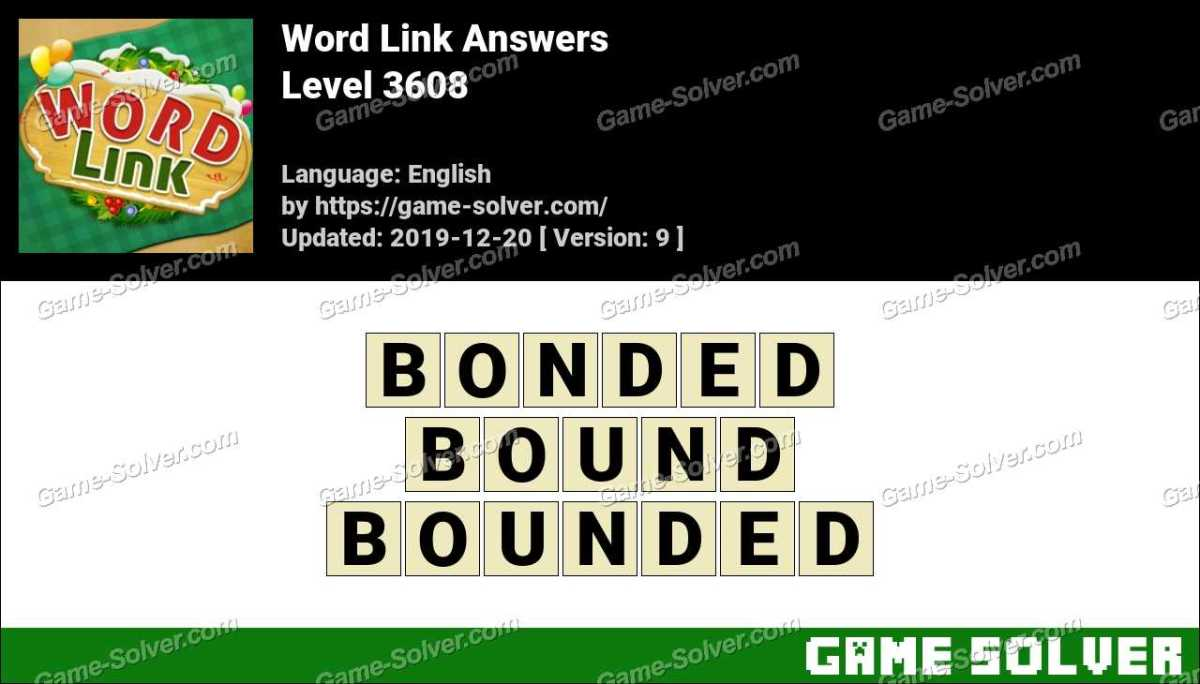 Word Link Level 3608 Answers