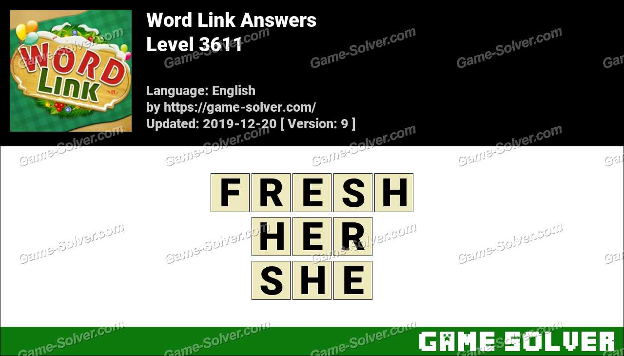 Word Link Level 3611 Answers