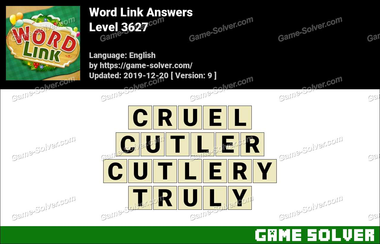 Word Link Level 3627 Answers