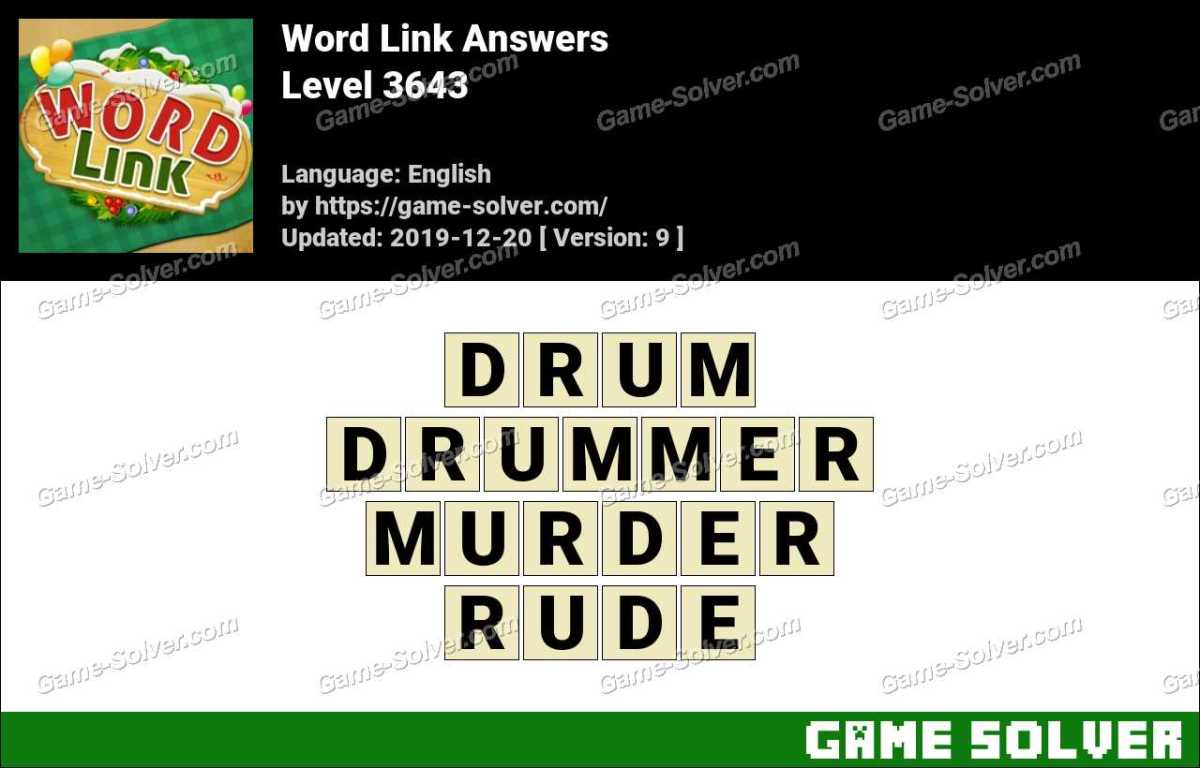 Word Link Level 3643 Answers