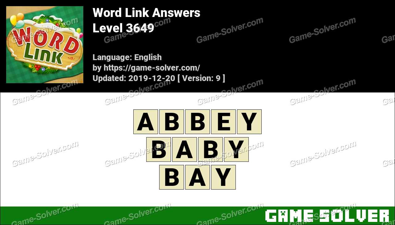 Word Link Level 3649 Answers
