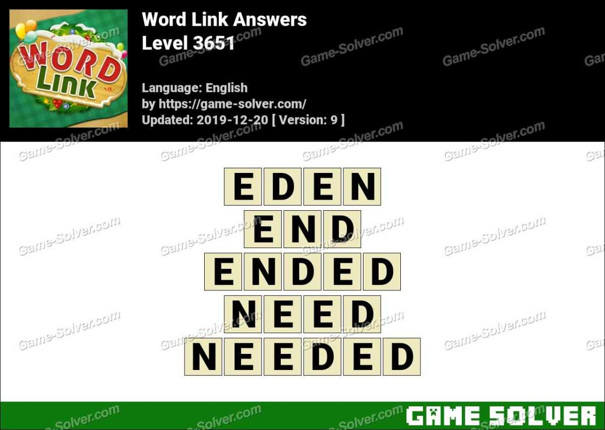 Word Link Level 3651 Answers